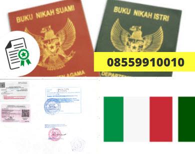 Jasa Legalisir Buku Nikah Di Kedutaan Italia    08559910010
