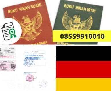 Jasa Legalisir Buku Nikah Di Kedutaan Jerman    08559910010