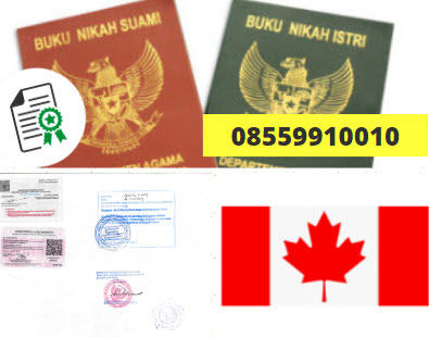 Jasa Legalisir Buku Nikah Di Kedutaan Kanada || 08559910010