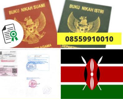 Jasa Legalisir Buku Nikah Di Kedutaan Kenya || 08559910010