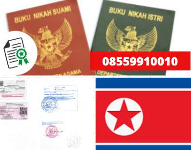 Jasa Legalisir Buku Nikah Di Kedutaan Korea Utara || 08559910010