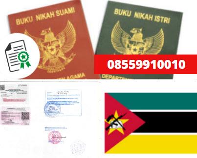 Jasa Legalisir Buku Nikah Di Kedutaan Mozambik    08559910010