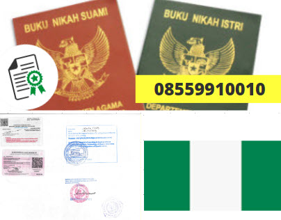 Jasa Legalisir Buku Nikah Di Kedutaan Nigeria || 08559910010
