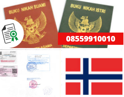 Jasa Legalisir Buku Nikah Di Kedutaan Norwegia || 08559910010