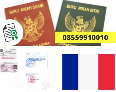 Jasa Legalisir Buku Nikah Di Kedutaan Prancis || 08559910010