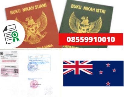 Jasa Legalisir Buku Nikah Di Kedutaan Selandia Baru || 08559910010