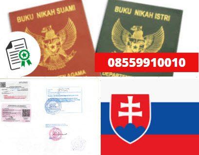 Jasa Legalisir Buku Nikah Di Kedutaan Slowakia || 08559910010