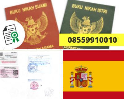 Jasa Legalisir Buku Nikah Di Kedutaan Spanyol    08559910010
