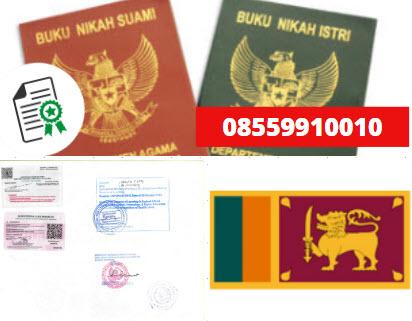 Jasa Legalisir Buku Nikah Di Kedutaan Sri Lanka || 08559910010