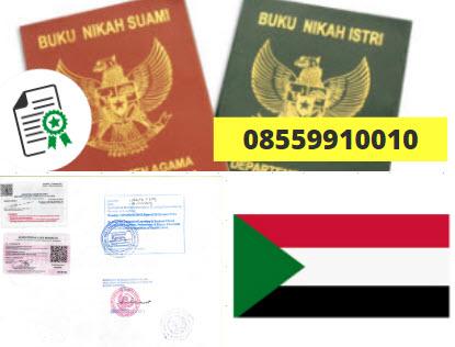 Jasa Legalisir Buku Nikah Di Kedutaan Sudan || 08559910010