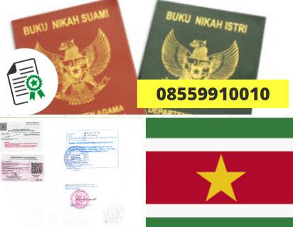 Jasa Legalisir Buku Nikah Di Kedutaan Suriname || 08559910010