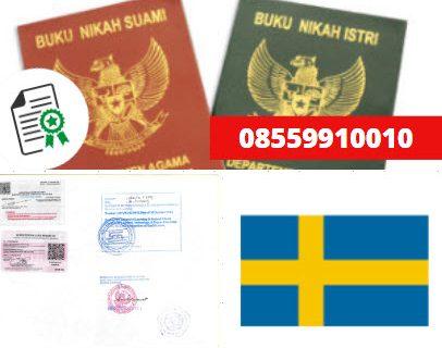 Jasa Legalisir Buku Nikah Di Kedutaan Swedia || 08559910010