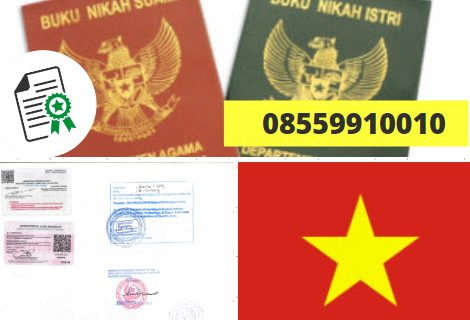 Jasa Legalisir Buku Nikah Di Kedutaan Vietnam || 08559910010