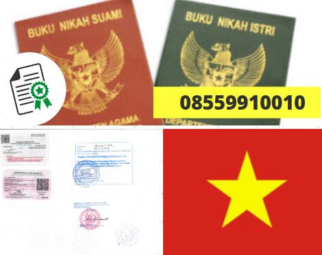 Jasa Legalisir Buku Nikah Di Kedutaan Vietnam    08559910010