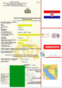 Jasa Legalisir SKCK Di Kedutaan Kroasia    08559910010