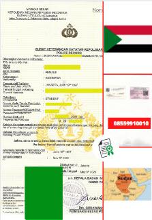 Jasa Legalisir SKCK Di Kedutaan Sudan    08559910010