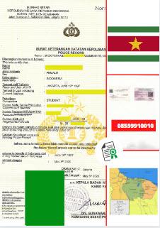 Jasa Legalisir SKCK Di Kedutaan Suriname    08559910010