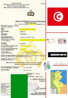 Jasa Legalisir SKCK Di Kedutaan Tunisia || 08559910010