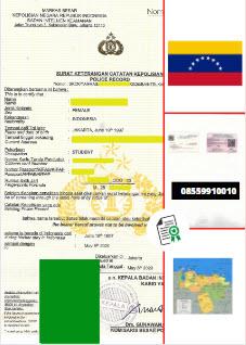 Jasa Legalisir SKCK Di Kedutaan Venezuela || 08559910010