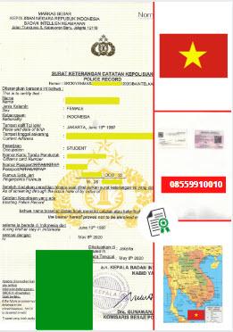 Jasa Legalisir SKCK Di Kedutaan Vietnam || 08559910010