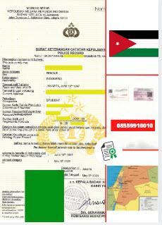 Jasa Legalisir SKCK Di Kedutaan Yordania || 08559910010