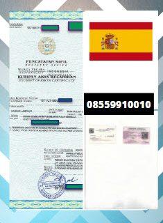 Jasa Legalisir Akta Lahir Di Kedutaan Spanyol || 08559910010