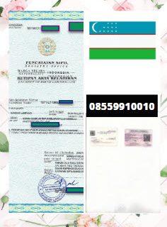 Jasa Legalisir Akta Lahir Di Kedutaan Uzbekistan || 08559910010