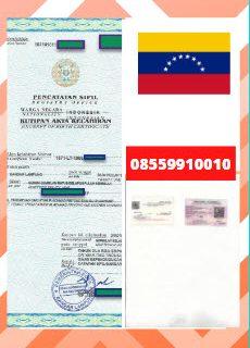 Jasa Legalisir Akta Lahir Di Kedutaan Venezuela || 08559910010