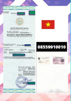 Jasa Legalisir Akta Lahir Di Kedutaan Vietnam || 08559910010