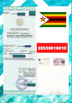 Jasa Legalisir Akta Lahir Di Kedutaan Zimbabwe || 08559910010
