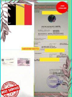Jasa Legalisir Akta Kematian Di Kedutaan Belgia || 08559910010