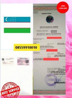 Jasa Legalisir Akta Kematian Di Kedutaan Uzbekistan || 08559910010