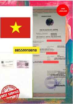 Jasa Legalisir Akta Kematian Di Kedutaan Vietnam || 08559910010
