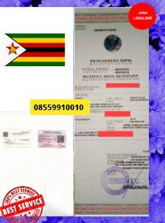 Jasa Legalisir Akta Kematian Di Kedutaan Zimbabwe || 08559910010