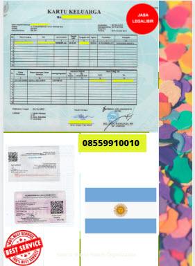 Jasa Legalisir Kartu Keluarga Di Kedutaan Argentina || 08559910010