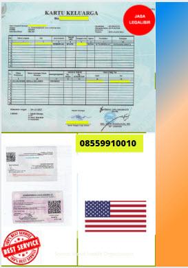 Jasa Legalisir Kartu Keluarga Di Kedutaan Amerika Serikat || 08559910010