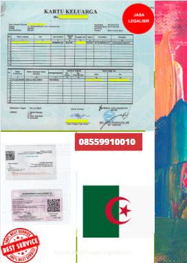 Jasa Legalisir Kartu Keluarga Di Kedutaan Aljazair || 08559910010