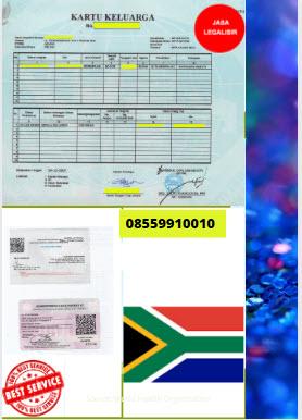 Jasa Legalisir Kartu Keluarga Di Kedutaan Afrika Selatan || 08559910010