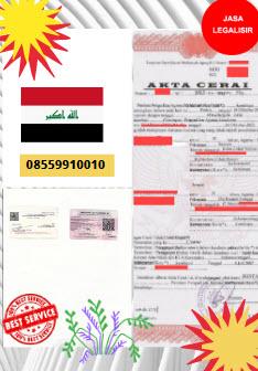 Jasa Legalisir Akta Cerai Di Kedutaan Irak || 08559910010