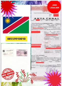 Jasa Legalisir Akta Cerai Di Kedutaan Namibia || 08559910010