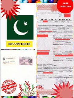 Jasa Legalisir Akta Cerai Di Kedutaan Pakistan || 08559910010