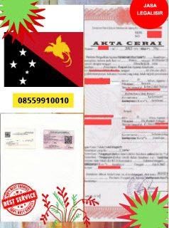 Jasa Legalisir Akta Cerai Di Kedutaan Papua Nugini || 08559910010