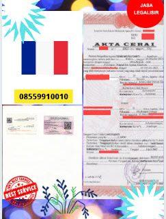 Jasa Legalisir Akta Cerai Di Kedutaan Prancis || 08559910010