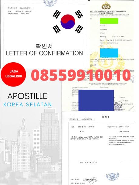Jasa Apostille Korea || 08559910010