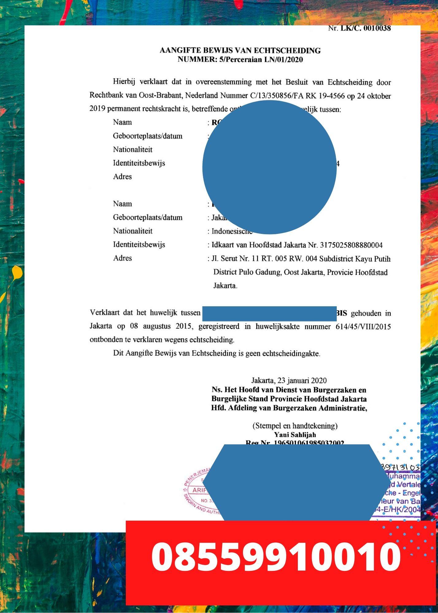 Penerjemah Tersumpah Bahasa Belanda || 08559910010