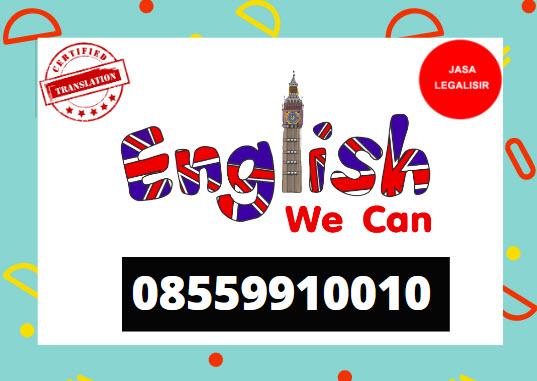 Penerjemah Tersumpah Bahasa Inggris || 08559910010