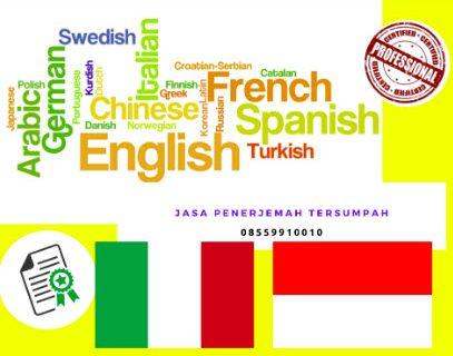 Jasa Legalisir Penerjemah Tersumpah di Italia    08559910010