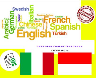 Penerjemah Tersumpah Bahasa Italia || 08559910010