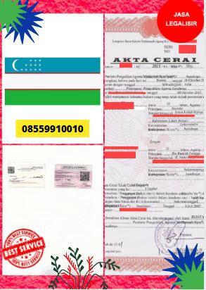 Jasa Legalisir Akta Cerai Di Kedutaan Uzbekistan || 08559910010