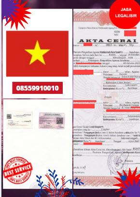 Jasa Legalisir Akta Cerai Di Kedutaan Vietnam || 08559910010